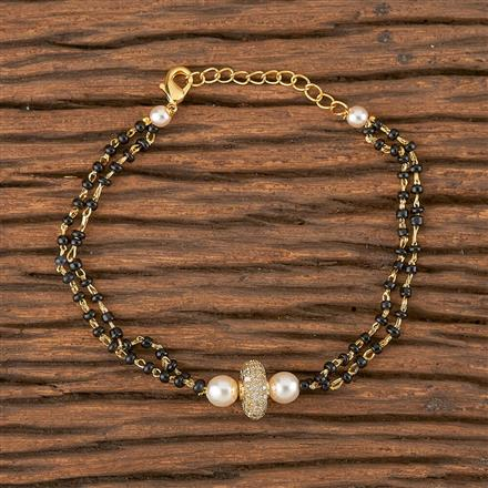411485 Cz Delicate Bracelet With Gold Plating