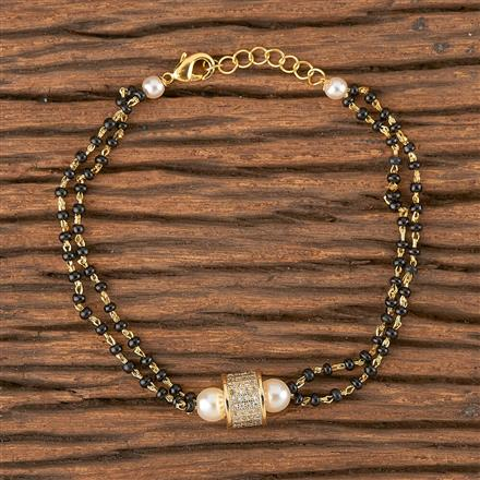 411487 Cz Delicate Bracelet With Gold Plating