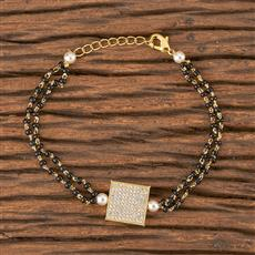 411488 Cz Delicate Bracelet With Gold Plating