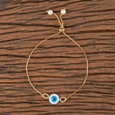 411490 Cz Adjustable Bracelet With Gold Plating