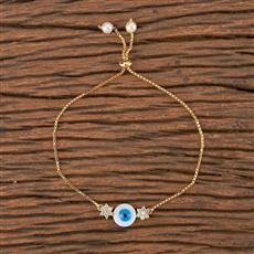 411491 Cz Adjustable Bracelet With Gold Plating