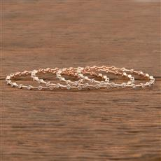 411531 Cz Delicate Bangles With Rose Gold Plating