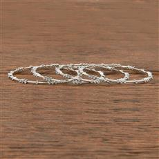 411532 Cz Delicate Bangles With Rhodium Plating