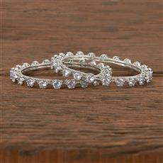 411533 Cz Classic Bangles With Rhodium Plating