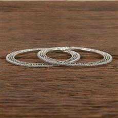 411546 Cz Delicate Bangles With Rhodium Plating