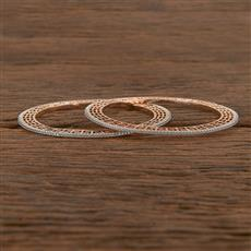 411547 Cz Delicate Bangles With Rose Gold Plating
