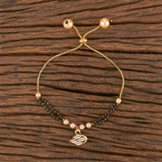 411557 Cz Adjustable Bracelet With Gold Plating