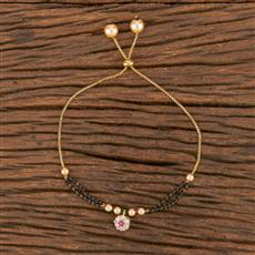 411558 Cz Adjustable Bracelet With Gold Plating