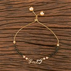 411560 Cz Adjustable Bracelet With Gold Plating