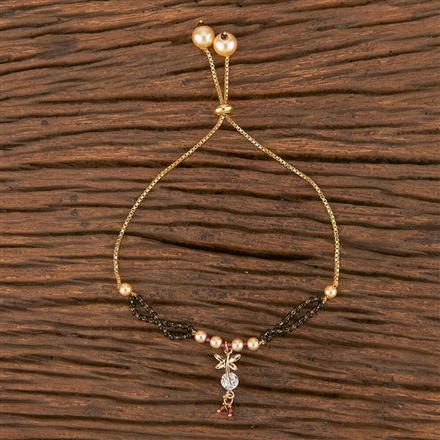 411562 Cz Adjustable Bracelet With Gold Plating