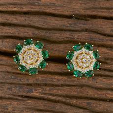 411625 Cz Tops With Gold Plating