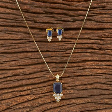 411752 Cz Classic Pendant Set With Gold Plating