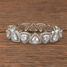 411826 Cz Classic Kada With Rhodium Plating