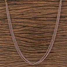 411838 Cz Mala Necklace With Gold Plating