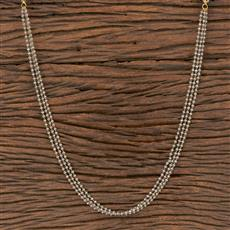 411839 Cz Mala Necklace With Gold Plating