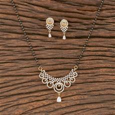 411871 Cz Classic Mangalsutra With Gold Plating