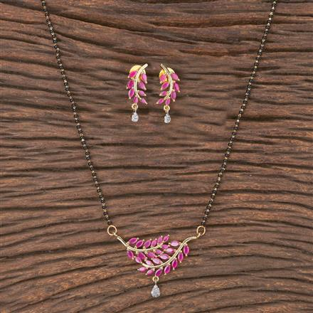 411966 Cz Classic Mangalsutra With 2 Tone Plating