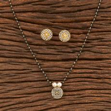 412054 Cz Classic Mangalsutra With Gold Plating