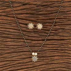 412056 Cz Classic Mangalsutra With Gold Plating