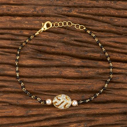 412071 Cz Delicate Bracelet With Gold Plating