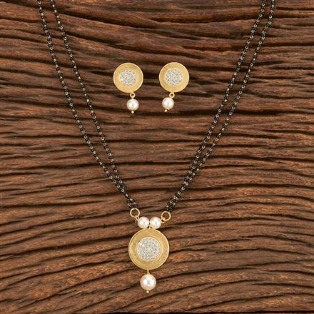 412072 Cz Classic Mangalsutra With Gold Plating