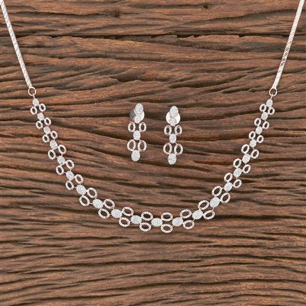 412133 Cz Classic Necklace With Rose Gold Plating