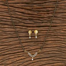 412181 Cz Classic Mangalsutra With 2 Tone Plating