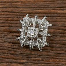 412193 Cz Classic Ring With Rhodium Plating