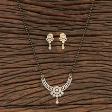 412208 Cz Classic Mangalsutra With 2 Tone Plating
