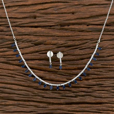412217 Cz Delicate Necklace With Rhodium Plating
