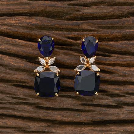 412249 Cz Classic Earring With Gold Plating