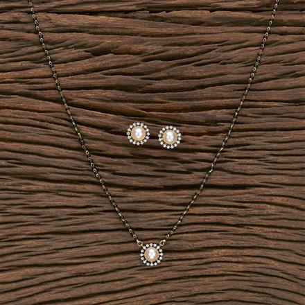 412284 Cz Classic Mangalsutra With 2 Tone Plating