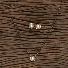 412285 Cz Classic Mangalsutra With Gold Plating