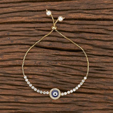 412287 Cz Adjustable Bracelet With Gold Plating