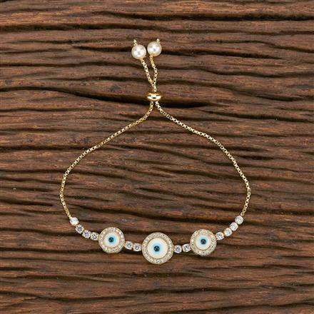 412288 Cz Adjustable Bracelet With Gold Plating