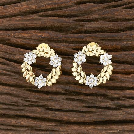 412289 Cz Short Earring With Gold Plating