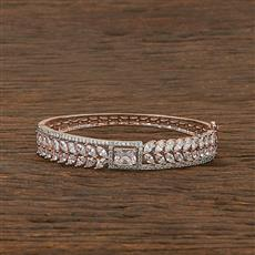 412294 Cz Classic Kada With Rose Gold Plating