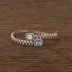 412295 Cz Classic Kada With Rose Gold Plating
