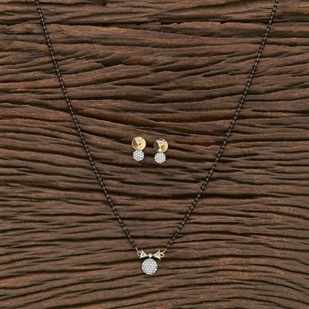 412341 Cz Classic Mangalsutra With 2 Tone Plating