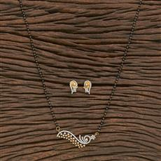 412343 Cz Classic Mangalsutra With 2 Tone Plating