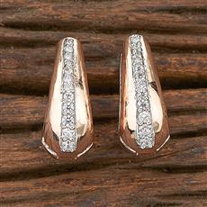 412357 Cz Balis With Rose Gold Plating