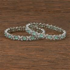 412390 Cz Classic Bangles With Rhodium Plating