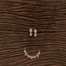 412628 Cz Classic Mangalsutra With 2 Tone Plating