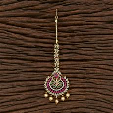 412849 Cz South Indian Tikka With Gold Plating