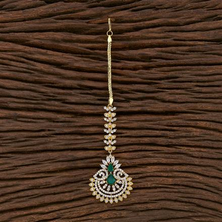 412850 Cz South Indian Tikka With Gold Plating