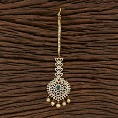 412853 Cz South Indian Tikka With Gold Plating