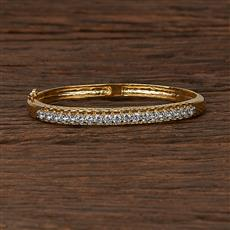 413003 Cz Delicate Kada With 2 Tone Plating