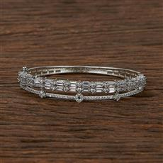 413129 Cz Classic Kada With Rhodium Plating