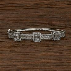 413152 Cz Classic Kada With Rhodium Plating