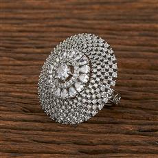 413360 Cz Classic Ring With Rhodium Plating